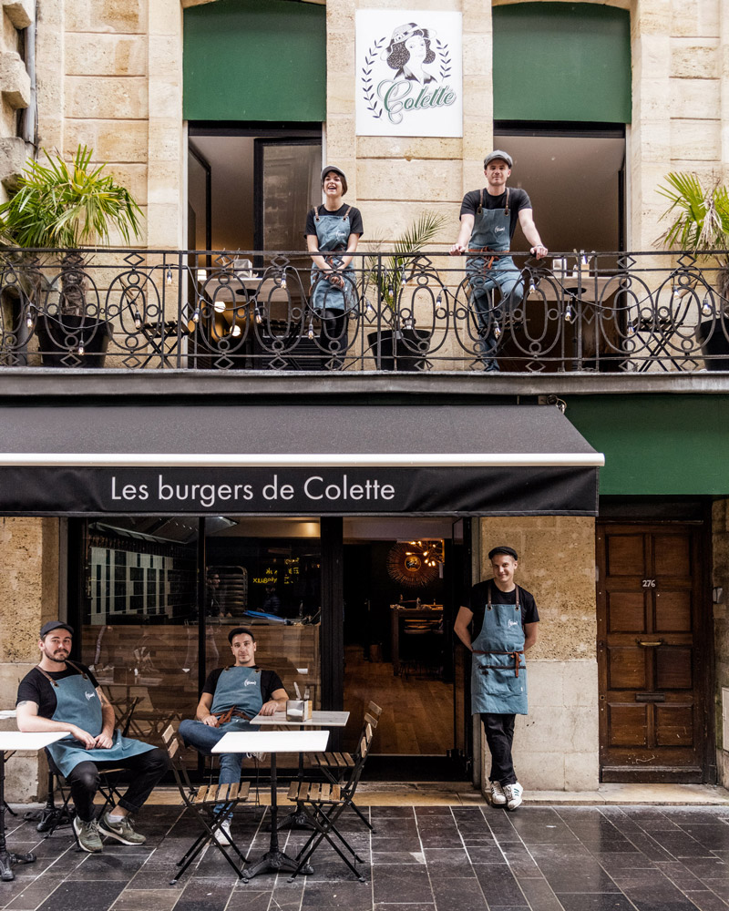 Les Burgers de Colette restaurant rue sainte catherine à bordeaux